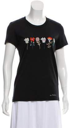 Markus Lupfer Embroidered Short Sleeve Top