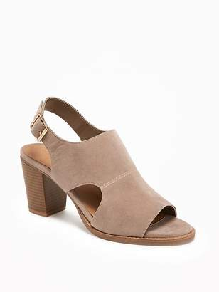 Sueded Sling-Back Booties for Women $44.94 thestylecure.com