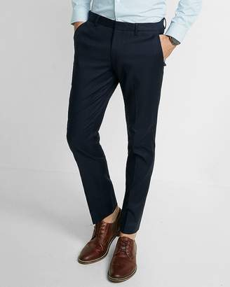 Express Extra Slim Navy Oxford Dress Pant