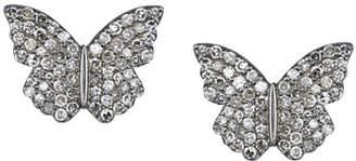 Sheryl Lowe Pavé Diamond Butterfly Stud Earrings eQu2ieNPv