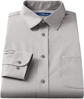 Croft & Barrow Men's Fitted Solid Easy Care Spread-Collar Dress Shirt