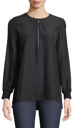 Lafayette 148 New York Fantasia Matte Silk Blouse, Plus Size