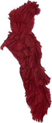Oscar de la Renta Pleated Silk Top