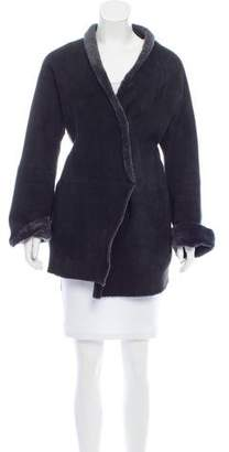 Bergdorf Goodman Shearling Short Coat