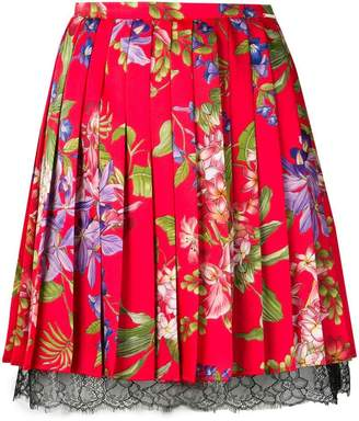 Liu Jo Iris Flower print pleated skirt