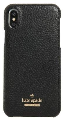 Kate Spade pebbled leather iPhone X/Xs case