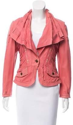 Just Cavalli Lightweight Leather Jacket