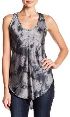 Acrobat Marble Print Scoop Neck Tank Top