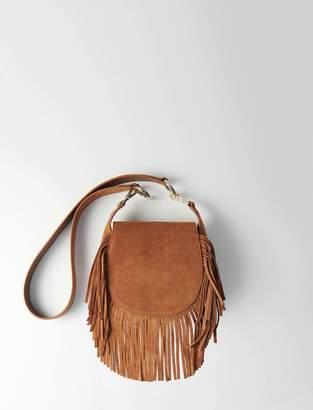 Maje Suede fringe Gyps handbag