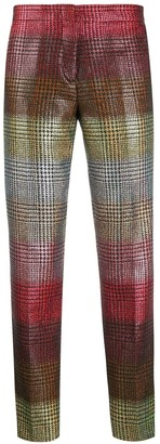 Marco De Vincenzo houndstooth slim-fit trousers