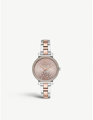 Michael Kors MK3972 Sofie rose gold-tone, stainless steel and crystal watch