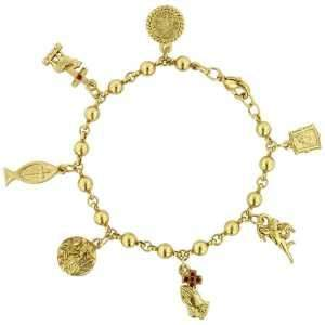 LIBRARY The Vatican Collection Sacred Symbols Charm Bracelet