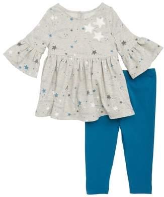 Pippa & Julie Stars Dress & Leggings Set