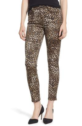 Jen7 Printed Ankle Skinny Jeans