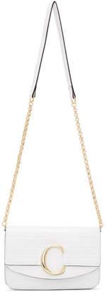 Chloé White C Chain Clutch Bag
