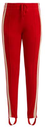 Etoile Isabel Marant Doriann Stripe Trimmed Track Pants - Womens - Red