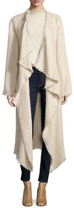 Ralph Lauren Collection Draped-Front Long Coat, Blonde $2,690 thestylecure.com