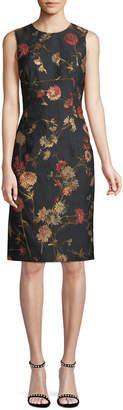 Prabal Gurung Sleeveless Floral Jacquard Sheath Dress