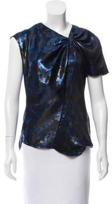 Isabel Marant Lurex Patterned Silk Blouse
