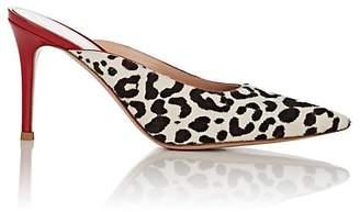Gianvito Rossi Women's Leopard-Print Calf Hair Mules