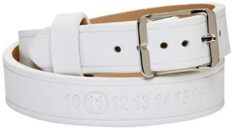 Maison Margiela White and Silver Double Wrap Bracelet