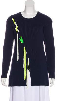 Tanya Taylor Embellished Long Sleeve Sweater