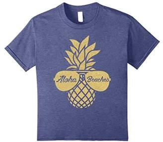 Aloha Beaches Pineapple Sunglasses Hawaiian Shirt - Wedding