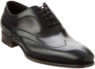 Caporicci Natural Calf Leather Wingtip Oxford