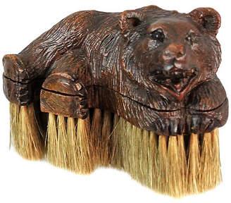 Antique Black Forest Bear Clothes Brush