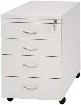 Filing Cabinets & Storage Velocity Mobile 4 Drawer Filing Cabinet, Designtec grey