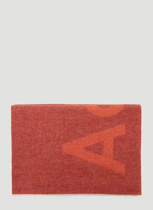 Acne Studios Toronty Logo Scarf in Orange