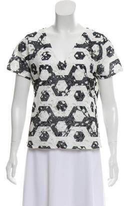 Anne Fontaine Lace Short Sleeve Top