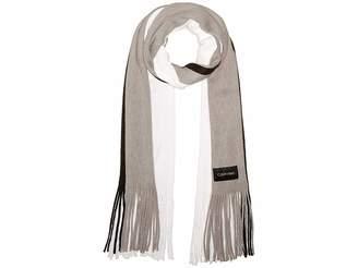 Calvin Klein Three-Color Wrap Knit Scarf
