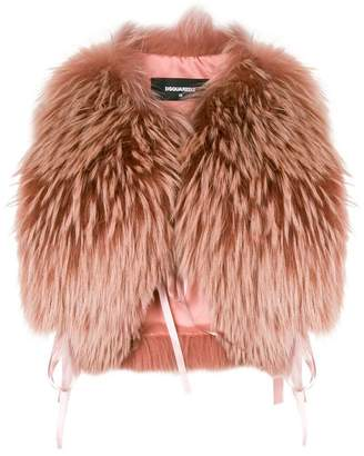 DSQUARED2 raccoon fur stole