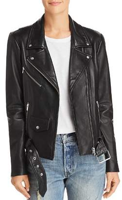 Veda Jayne Leather Moto Jacket