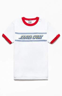 Santa Cruz Strip Ringer T-Shirt