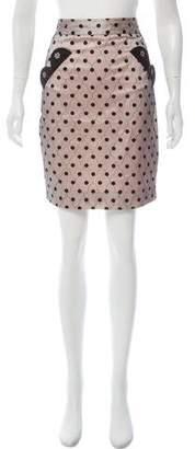 Marc by Marc Jacobs Polka Dot Knee-Length Skirt