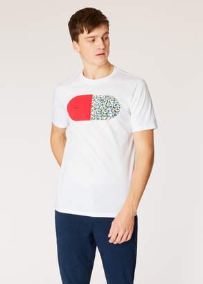 Paul Smith Men's White 'Pill' Print Organic-Cotton T-Shirt