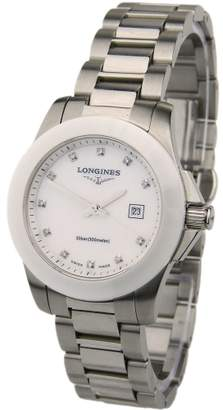 Longines Lady Conquest Steel And Ceramic L3...257...4...87...7