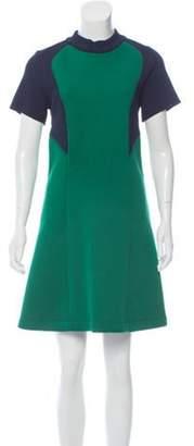 Cédric Charlier Colorblock Mini Dress w/ Tags Green Colorblock Mini Dress w/ Tags
