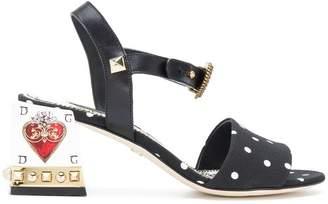 Dolce & Gabbana heart detail sandals