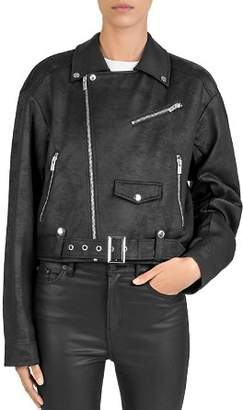 The Kooples Fleece Moto Jacket
