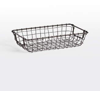 Rejuvenation Small Oil-Rubbed Bronze Wire Storage Basket
