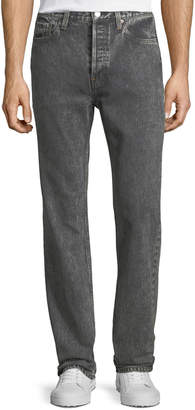 Balenciaga Snow-Washed Straight-Leg Jeans