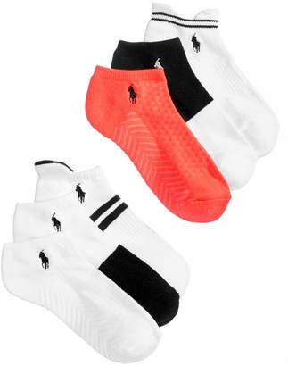 Polo Ralph Lauren Women's 6-Pk. Stripe Assorted Low-Cut Socks