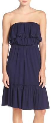Felicity & Coco Strapless Ruffle Blouson Jersey Dress (Regular & Petite) (Nordstrom Exclusive)