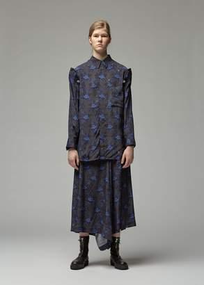 Yohji Yamamoto Y's By Calico Detachable Sleeve Shirt