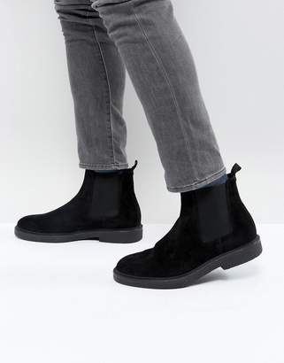 Zign Shoes Suede Chelsea Boots With Chunky Sole