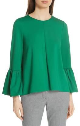 Tibi Knit Ruffle Sleeve Top