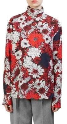 Cédric Charlier Floral Silk Blouse